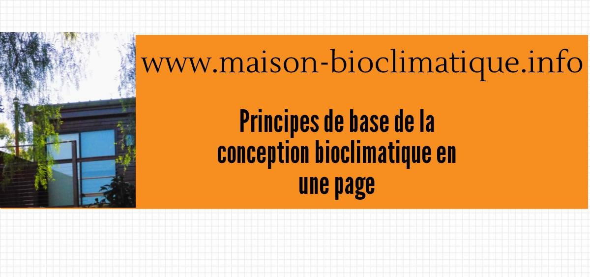 conception bioclimatique 1