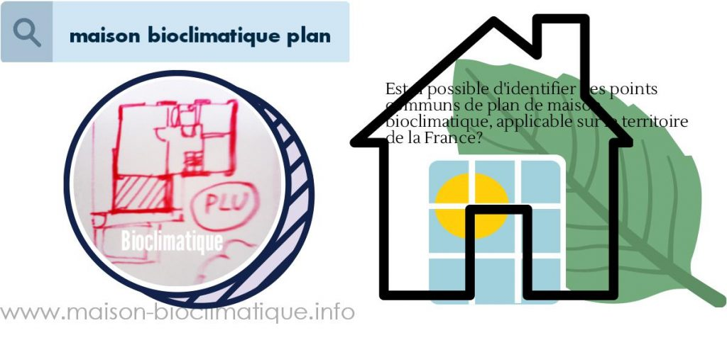 maison bioclimatique plan